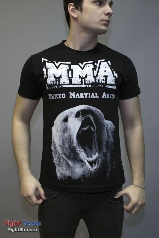 Футболка ММА Медведь черная